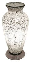 Mosaic White Glass Vase Table Lamp