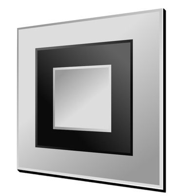 Montana Clear and Black Large Square Mirror