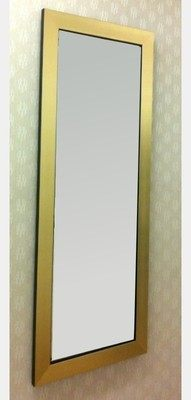 Flat Gold Framed Unbevelled 12X36 Mirror