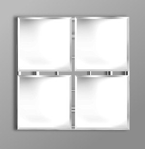 Quatro large square mirror for Big square mirror