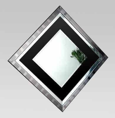 Xena Black Glass Mirror