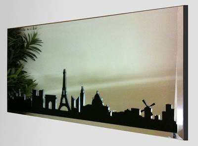 Paris Silhouette Skyline Mirror