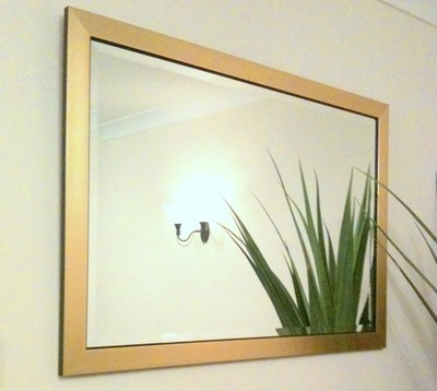 Flat Gold Framed 36X24 Bevelled Mirror