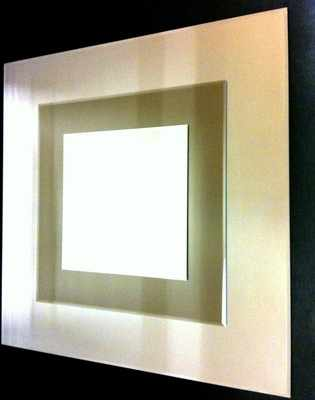 Montana Clear and Bronze Large Square Mirror