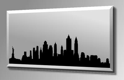New York Silhouette Skyline Mirror