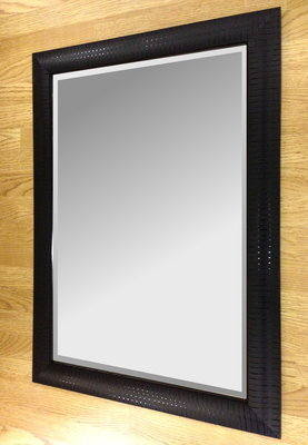 Siena Black 36X24 Bevelled Mirror