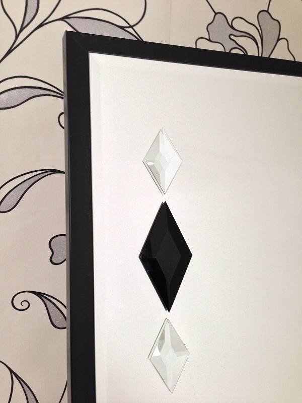 Black Diamonds Floorstanding Mirror Detail