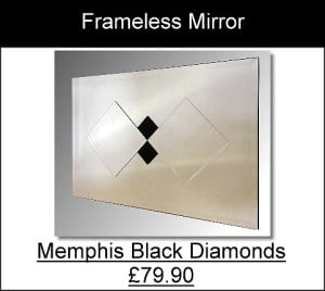 Memphis Black Diamonds Frameless Mirror