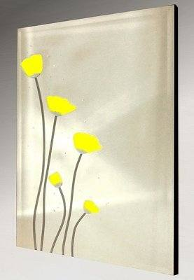 Yellow Poppies Frameless Mirror 51X76cm