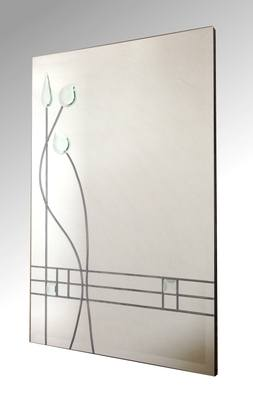 Triple Flower Bud Leaded Mirror 61X92cm