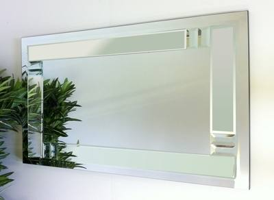Florida Clear Glass Bevelled Mirror 122X61cm