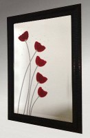 Poppies Framed Mirror 61X86cm