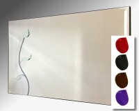 Leaded Flower Bevelled Frameless Mirror 122X61cm With Colour Option