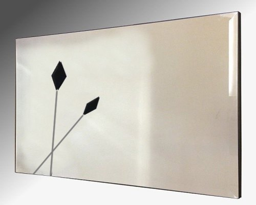 Twin Black Spears Design Bevelled Frameless Mirror 122X61cm