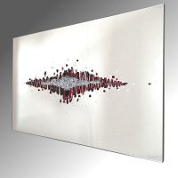 Abstract Horizon Glass Art. 92x61cm