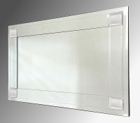 Boston Clear Glass Bevelled Mirror 92X61cm