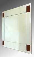 Boston Clear and Brown Glass Square Bevelled Mirror 61X61cm