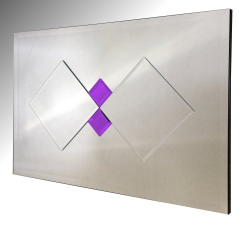 Memphis Purple Diamonds Mirror