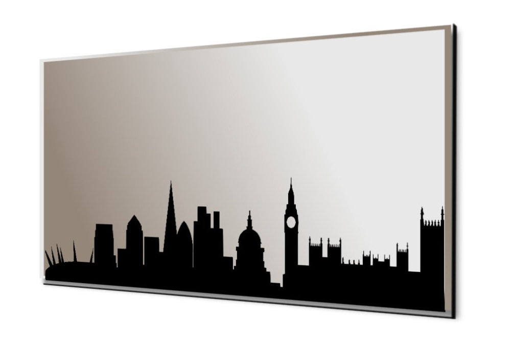 London Silhouette Skyline Mirror