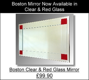 Boston Red Frameless Mirror