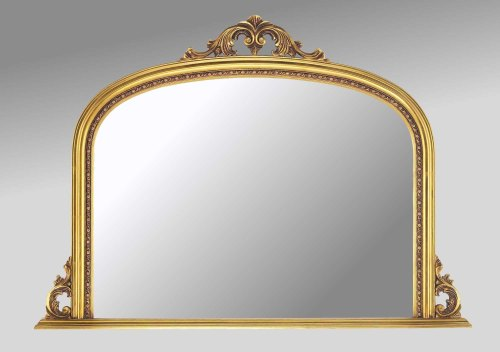 Ornate Gold Overmantle Mirror
