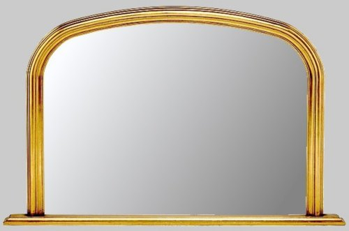 Plain Gold Overmantle Mirror