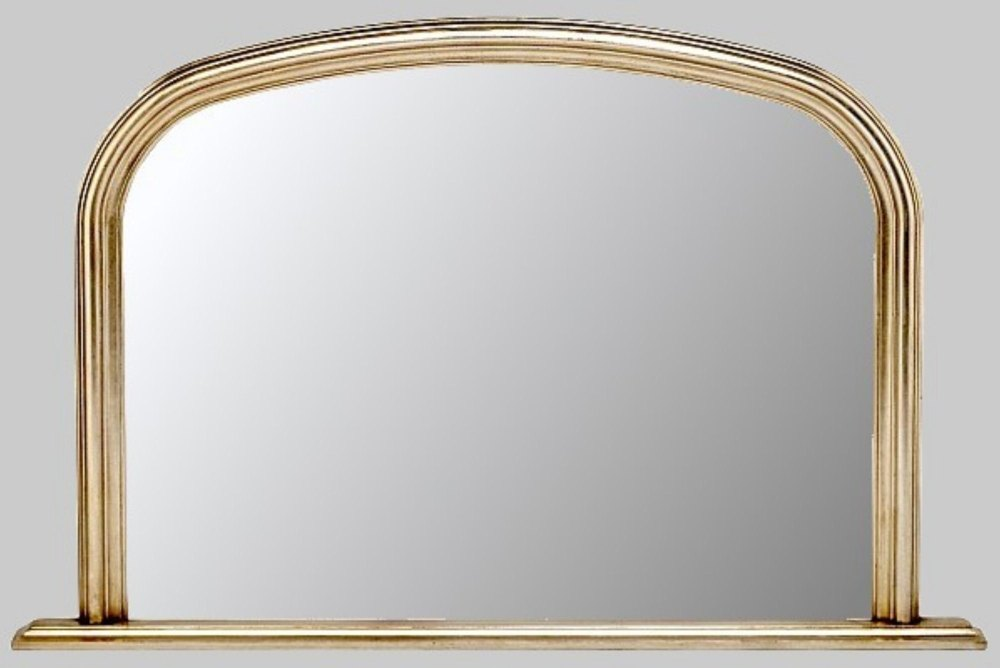 Champagne silver overmantle mirror for Overmantle mirror