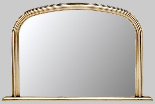 Plain Silver Overmantle Mirror