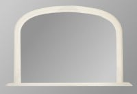 Plain White Overmantle Mirror