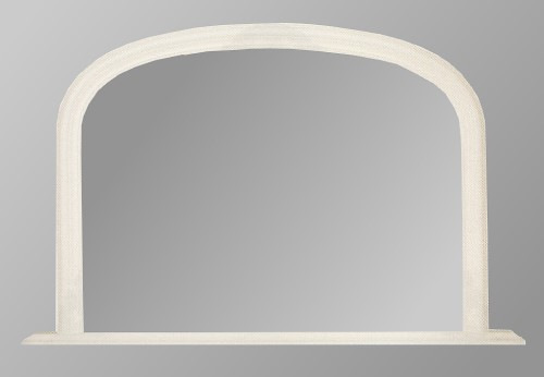 Plain white overmantle mirror for White mirror
