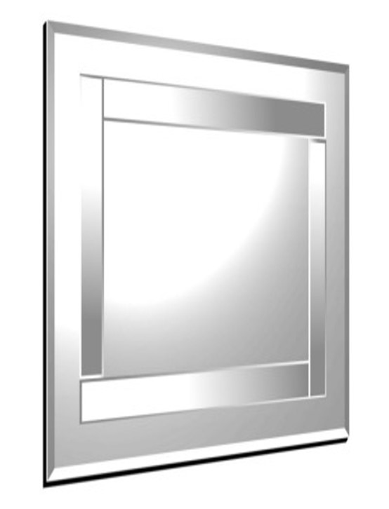 Athena Clear Square Mirror 61X61cm