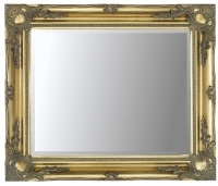 Gold Swept 30x20 Bevelled Mirror
