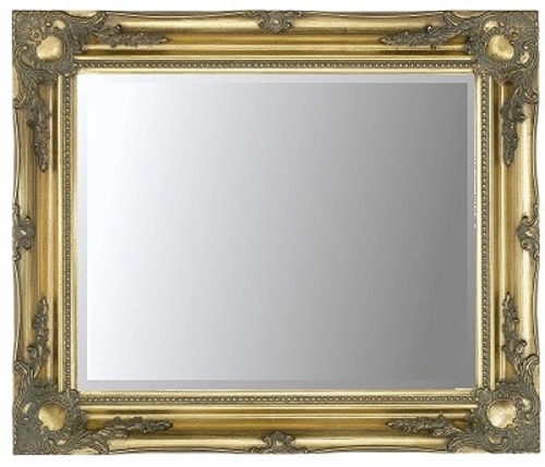 Gold Swept Bevelled Mirror 30X20
