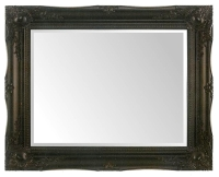 Black Swept 48x36 Bevelled Mirror