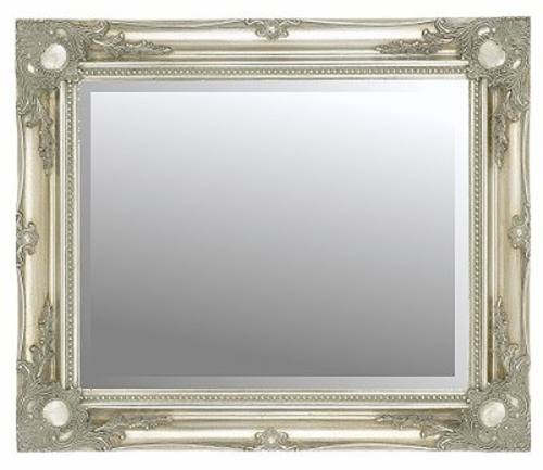 Silver Swept Bevelled Mirror 30X20