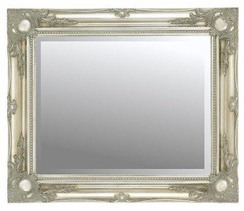 Silver Swept Bevelled Mirror 40X30