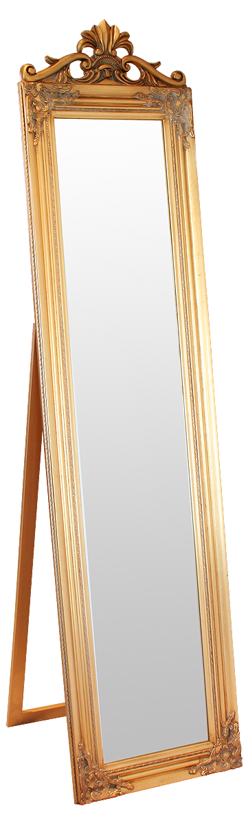Julia Floor Standing Gold Mirror