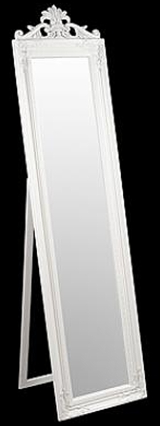 Julia Floor Standing White Mirror