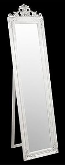 Julia Floor Standing White with Silver Mirror