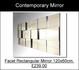 Facet Rectangular Contemporary Mirror
