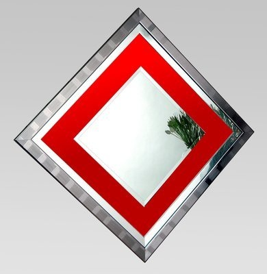 Xena Red Glass Mirror