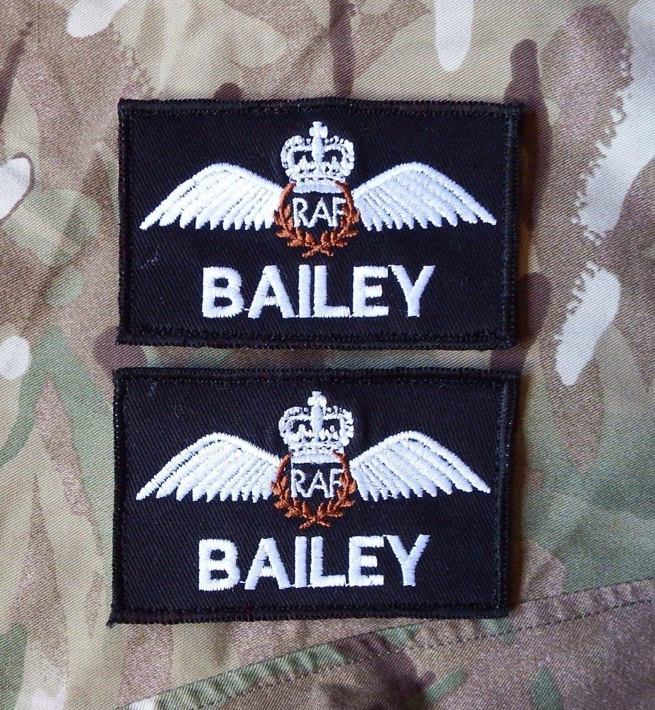 RAF Pilot Name Patches 2 pk