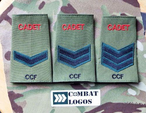 Cadet Rifles Rank Slides