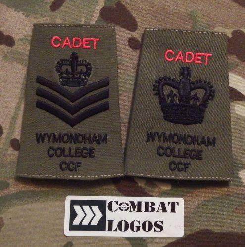 Wymondham College CCF Cadet Rank Slides