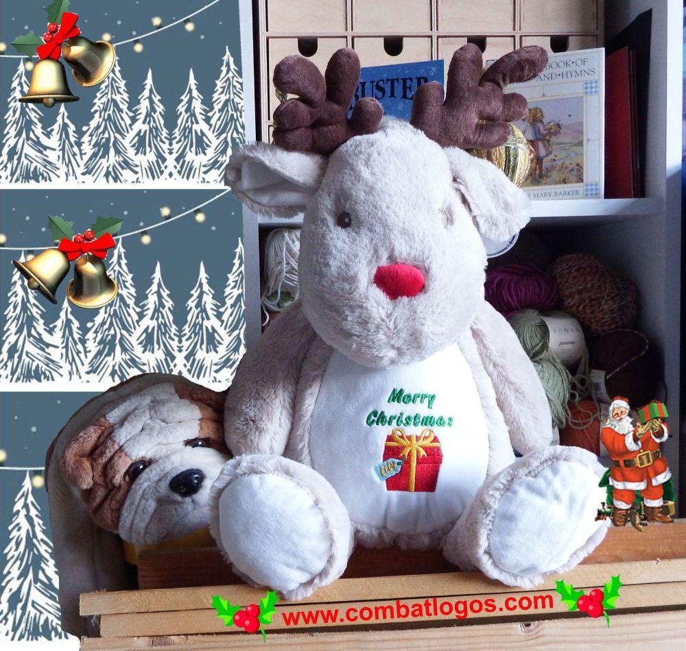 Personalised Cuddly Reindeer