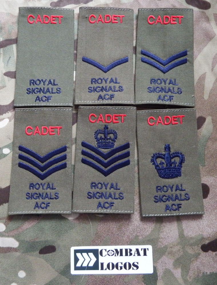 Royal Signals Rank Slides