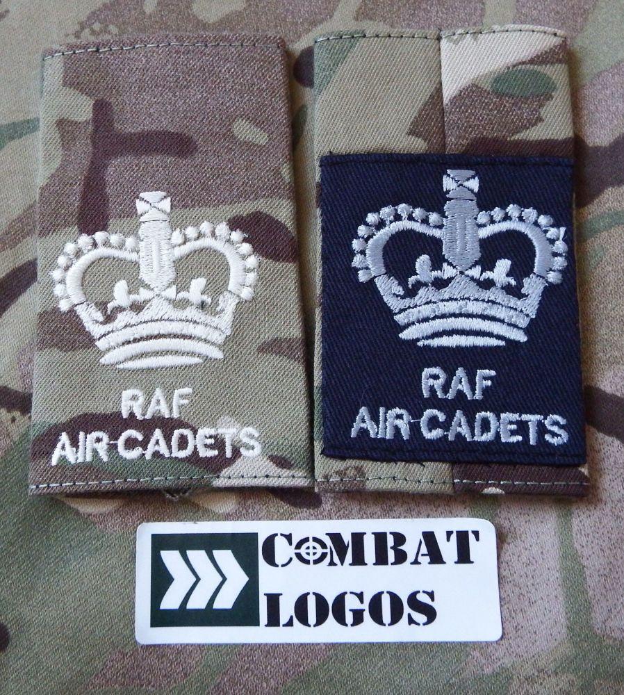 Adult RAF Air Cadets Rank Slides (Both Sides)