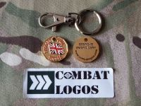 Support Our Troops Key Ring & Pet Collar Tokens
