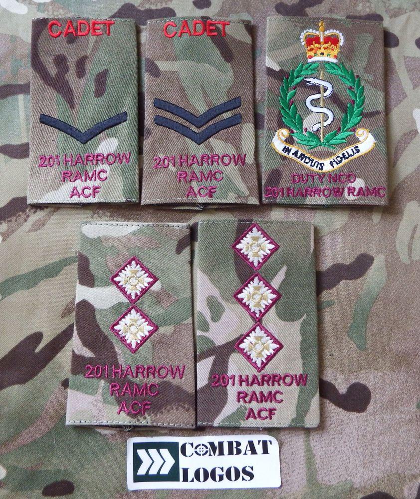201 Harrow RAMC ACF Cadet & CFAV Rank Slides