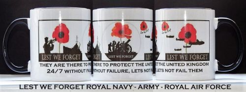 3 Services Lest We Forget Mug